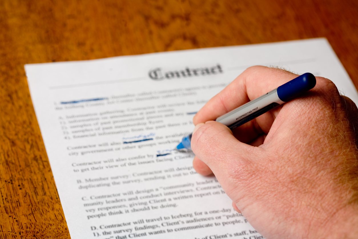 Amending a contract